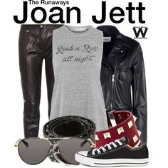 Inspired by Kristen Stewart as Joan Jett in 2010's The Runaways.