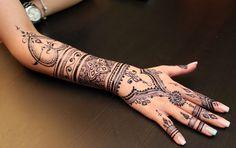 half arm henna