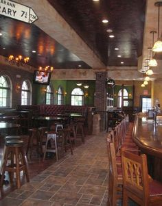Oneil's Irish Pub.. Decorative Walls done.. Irish Pub Style