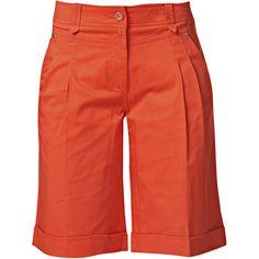 RAXEVSKY MADISON Orange Bermuda Shorts