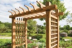 Build a beautiful garden gateway. Find detailed plans.