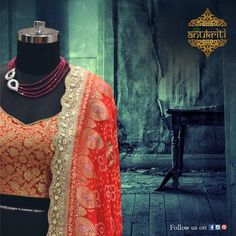 Fashion is about something that comes from within you.#AnukritiWardrobe #EthnicWork #Design #Grace #KolkataWork #VisitUs #SudhirJain