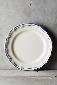 Gien Filet Bleu Four-Piece Place Setting - anthropologie.com