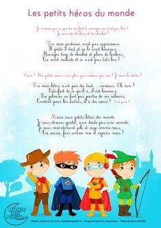 Paroles_Les petits héros du monde Superhero Classroom Theme, Classroom Themes, Teaching French, Worksheets For Kids, Babysitting, Anchor Charts, Smurfs, Coloring Books, Marvel