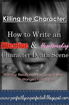 How to Write an Effective & Heartbreaking Character Death Scene Writer Tips, Book Writing Tips, Writing Process, Writing Quotes, Writing Resources, Writing Help, Writing Skills, Writing Ideas, Writing Characters