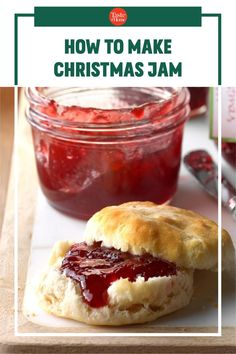 How to Make Christmas Jam Christmas Jam, Christmas Sweets, Christmas Recipes, Frozen Bag, Fruit Preserves, Star Food, Mascarpone Cheese, My Jam