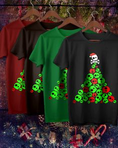 2d4af02c05 Skull Santa Shirt Hat Tree Best gift for Christmas holiday best idea gift  for boyfriend Birthday,Perfect for an ugly sweater party,Christmas,hat  santa ...