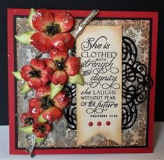 Red Dogwood by DJRants - Cards and Paper Crafts at Splitcoaststampers