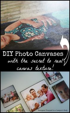 totally tryin it! DIY Photo Canvas Tutorial {with a secret tip to create REAL canvas texture}! Photo Projects, Diy Projects To Try, Crafts To Do, Craft Projects, Craft Ideas, Diy Photo, Photo Craft, Foto Transfer, Crafty Craft