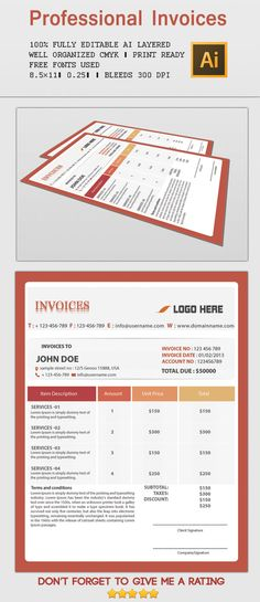 The Ultimate Print Templates Bundle with 130 Items u2013 Only $39 - invoice print