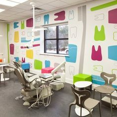 MARIE CALLEN DENTISTRY FOR KIDS - COMPLETED WALL GRAPHIC