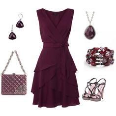 I don't know if I'd go with the purple, per se, but I really like the style of the dress. :)