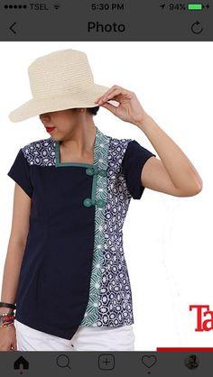 Batik Blazer, Blouse Batik, Batik Dress, Plus Sise, Batik Kebaya, How To Make Tutu, Batik Fashion, Dress Making Patterns, Blouse Models