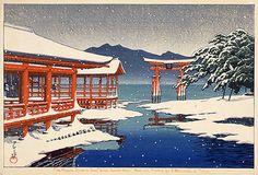 Kawase Hasui, Snow at Miyajima