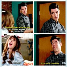 """""""He's so bad at everything!"""" - Jess and Schmidt #NewGirl"""