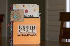 Fourth Grade Schoolwork Scrapbook by Noell, via Flickr