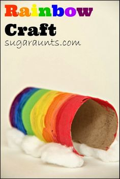 Toilet Paper Roll Rainbow Craft for #Children (pinned by Super Simple Songs) #educational #resources
