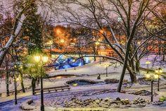 Park Bastejkalns in winter. Riga
