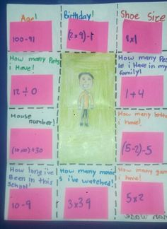 Quot Figure Me Out Quot Beginning Of The Year Math Activity To Get