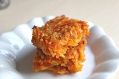 An allergy friendly recipe for Egg-Free Sweet Potato Kugel, made with a blend of sweet and regular potatoes, carrot, and apple.