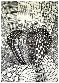 How To Start A Zentangle | Apple Zentangle | Flickr - Photo Sharing!