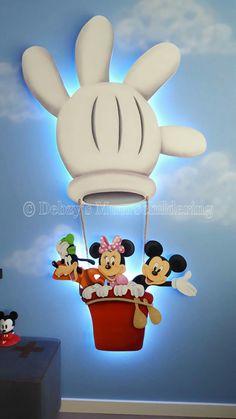 Mickey, minnie clubhouse 3d  muurschildering paneel