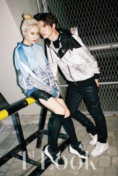 Ahn Jae Hyun and f(x) Krystal - 1st Look Magazine Vol.75