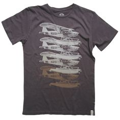 Seaplanes Tee Gray