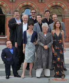 i love all of these people so much<3  robbie coltrane (rubeus hagrid), david thewlis (remus lupin), jason isaacs (lucius malfoy), michael gambon (albus dumbledore), nick moran (scabior), ralph fiennes (voldemort), warwick davis (griphook/filius flitwick), helen mccrory (narcissa malfoy), julie walters (molly weasley), and natalia tena (nymphadora tonks) <3 <3 :D
