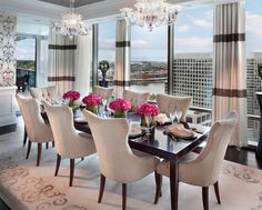 Incroyable Glamorous Dining Room : Window Treatments : Chandeliers : Centerpieces :  Chairs | Interior Design | Dining Rooms | Pinterest | Dining Room Windows,  ...