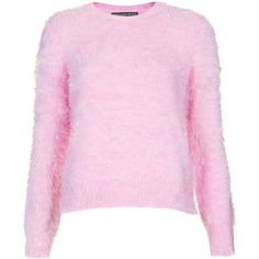TOPSHOP Petite Fluffy Crew Neck Jumper (2.490 RUB) ❤ liked on Polyvore featuring tops, sweaters, shirts, jumpers, candy pink, petite, pink crew neck sweater, topshop sweaters, crew-neck sweaters and topshop