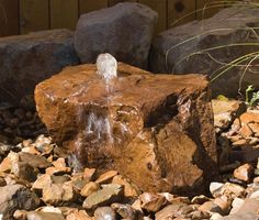 Bubbling Rock Fountains