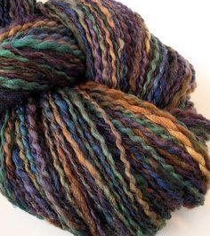 Handspun Yarn Hand Dyed DK Wool Alpaca Yarn OOAK  by FiberFusion, $46.00
