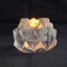 Candle stick Candle holder Vintage Orrefors crystal Nimbus Swedish crystal Made in Sweden, Swedish Glass Kostaboda Kosta Boda