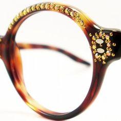 Vintage Eye Glasses Frame France Rhinestones Eyeglasses... review | buy, shop with friends, sale | Kaboodle
