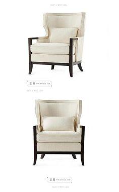 东西合意黉门立雪棉麻休闲椅 现代中式单人...: