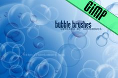 Bubble Brushes for GIMP