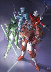 Female Autobots - Moonracer, Chromia, Firestar & Elita One