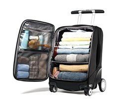 """Samsonite 21"""" EZ Cart - shelves on the inside Cool Luggage, Luggage Packing, Kids Luggage, Packing Tips For Travel, Travel Luggage, Travel Essentials, Travel Bags, Luggage Bags, Luggage Cover"""