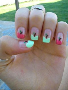Apple nails <3