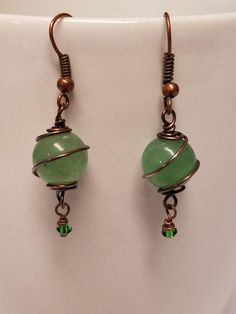 Hey, I found this really awesome Etsy listing at https://www.etsy.com/listing/503583610/green-aventurine-spiral-earrings