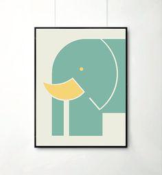 Baby Art Print Elephant Print Room Decor Nursery by angelaferrara, $18.00