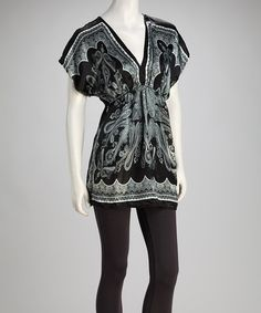 Take a look at this Black Satin Tunic by She's Cool on #zulily today!