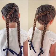 Laced mixed in french braid