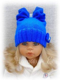50 Ideas For Crochet Baby Beanie Inspiration Knitting For Kids, Baby Knitting Patterns, Crochet For Kids, Loom Knitting, Hand Knitting, Crochet Patterns, Bonnet Crochet, Knit Crochet, Crochet Hats