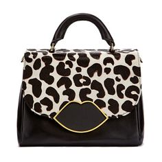 Get Lulu Guinness Small Izzy Leather Satchel - Stone Leopard now at Coggles  - the one stop shop for the sartorially minded shopper. dd07109730