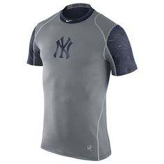 Nike New York Yankees Gray Pro Cool Performance T-Shirt #yankees #mlb #nyy
