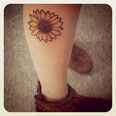 sunflower tattoo small - Google Search