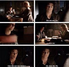 Liz and Damon. The Vampire Diaries Season 6 Episode 14