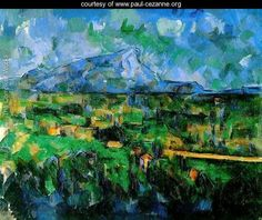 Mont Sainte Victoire Seen From Les Lauves by Paul Cezanne (1902)